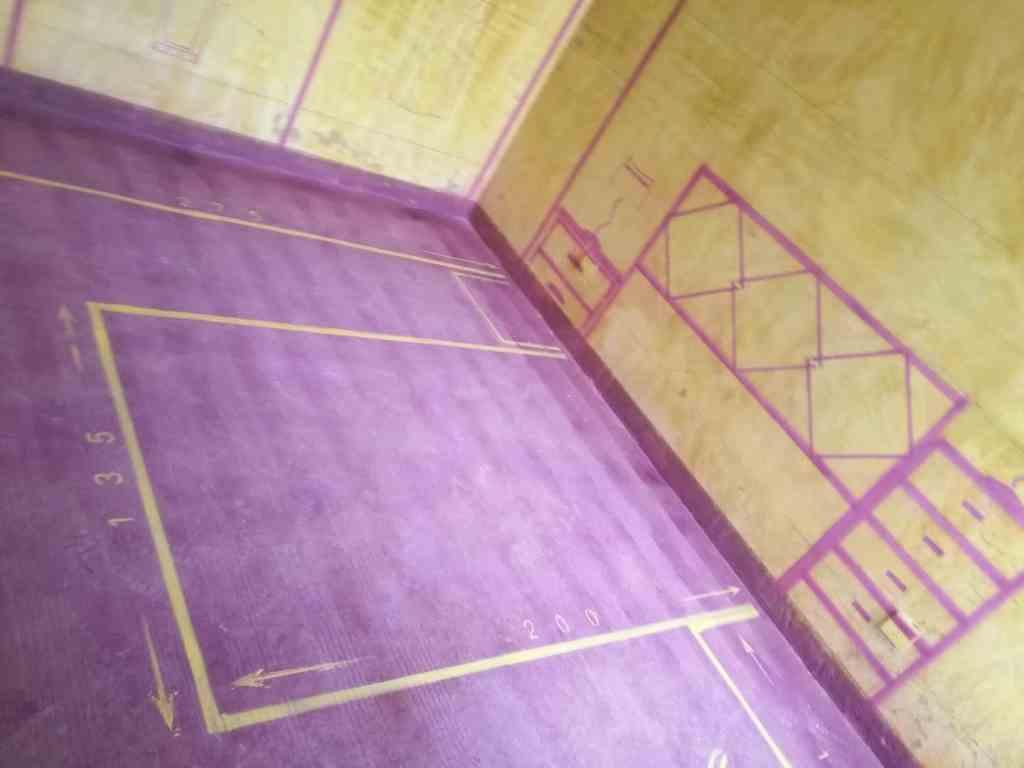 西山银杏-黄墙紫地/全景放样