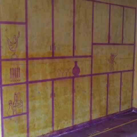 巴黎都市一期-黄墙紫地/全景放样