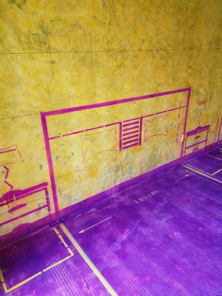 东方银座-黄墙紫地/全景放样