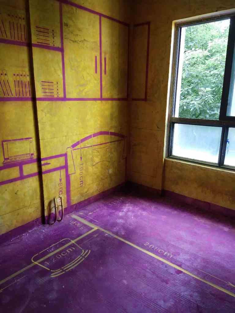 滨湖明珠-黄墙紫地/全景放样