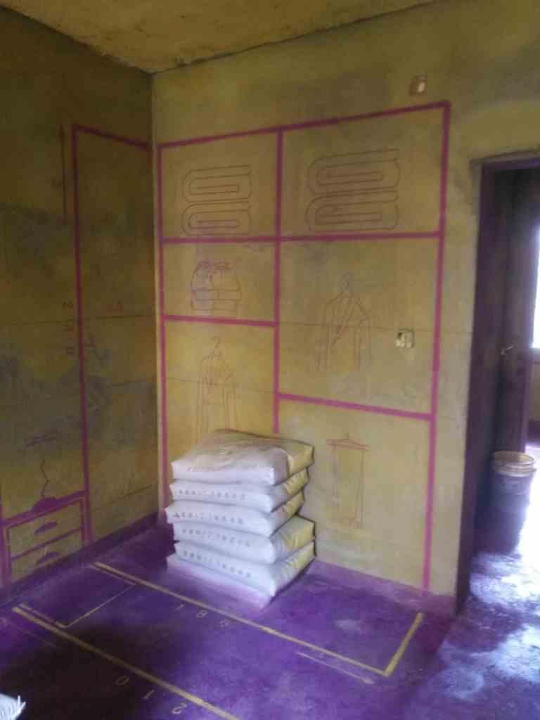 省农委西区宿舍-黄墙紫地加放样
