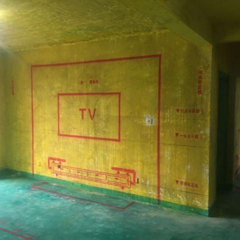 南湖春城-黄墙绿地/全景放样/成品保护