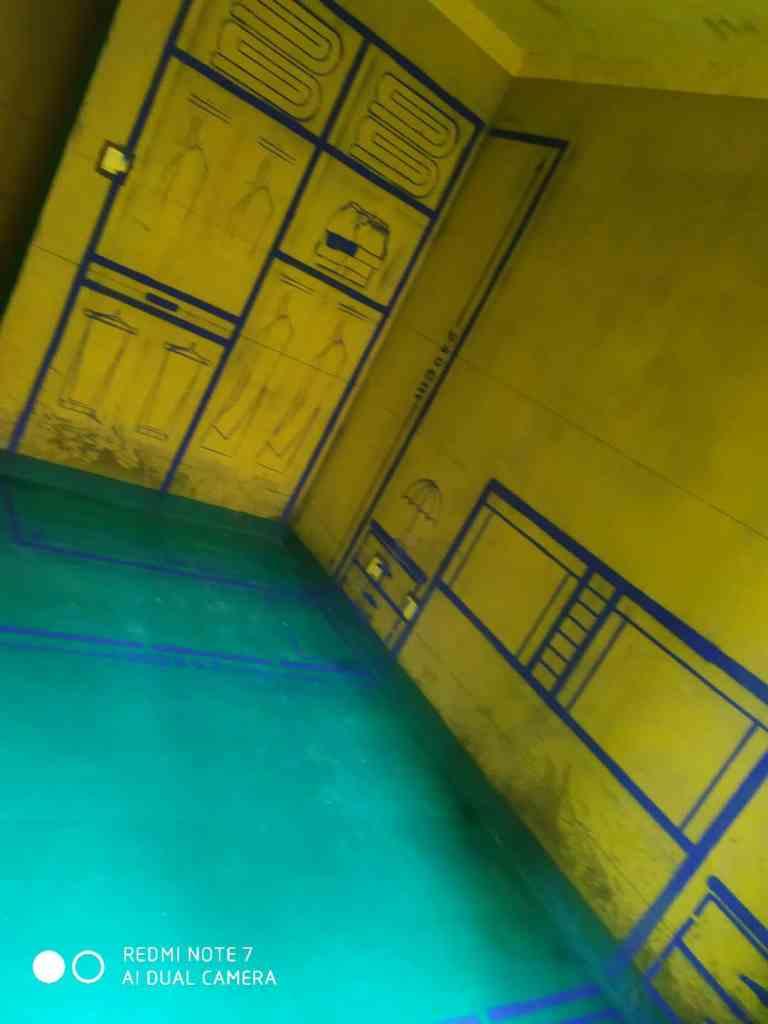 翡翠蓝湾畅园-黄墙绿地/全景放样
