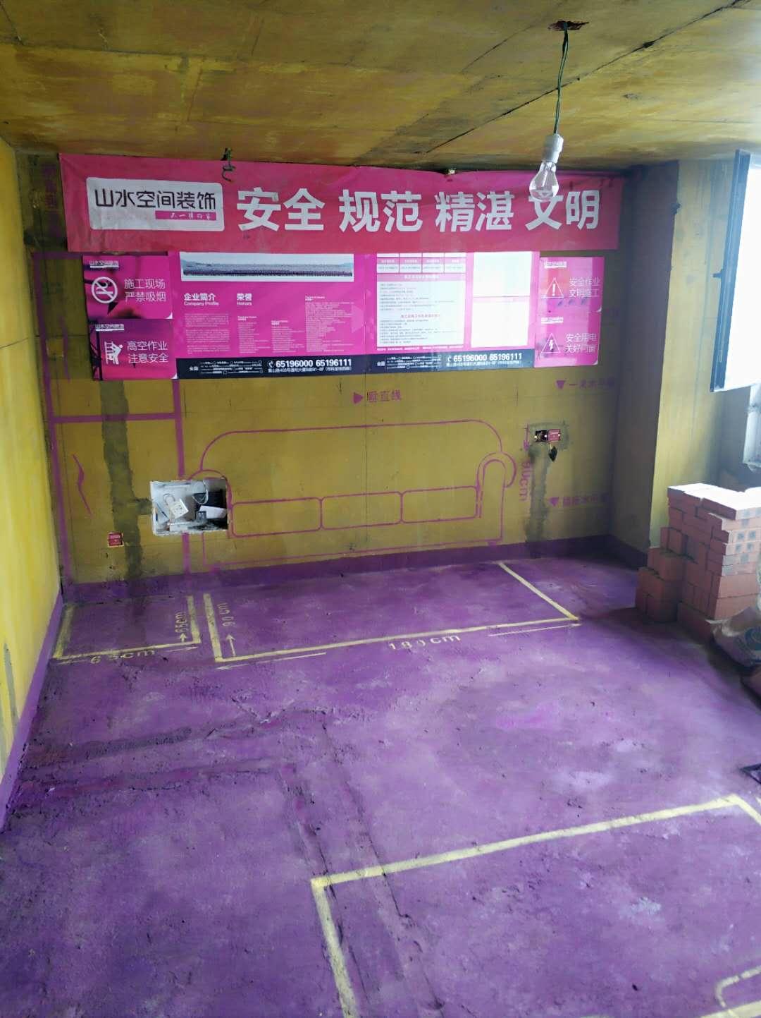 龙湖天街-黄墙紫地/全景放样