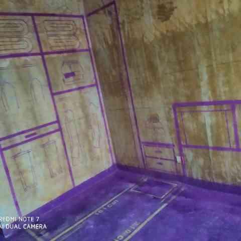 高铁花园-黄墙紫地/全景放样-山水装饰