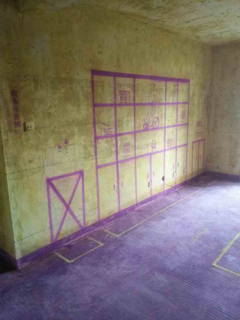 银河湾花园-黄墙紫地/全景放样-山水装饰