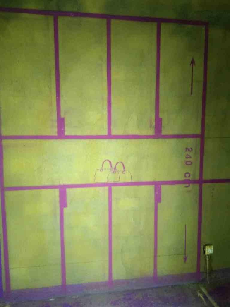 上元公寓-黄墙紫地/全景放样-山水装饰
