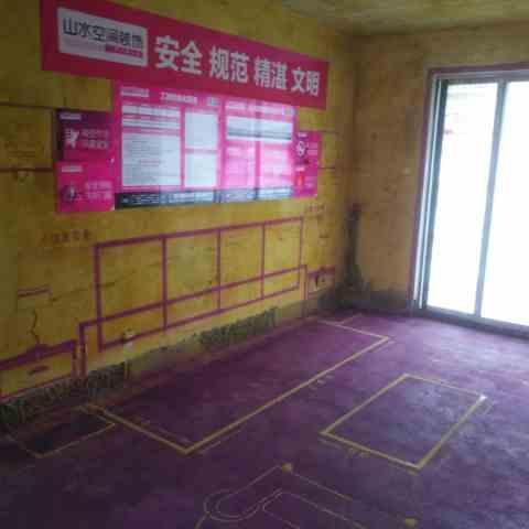 高速滨湖时代广场-黄墙紫地/全景放样-山水装饰