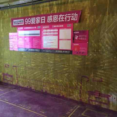 柏悦公馆-黄墙紫地/全景放样-山水装饰