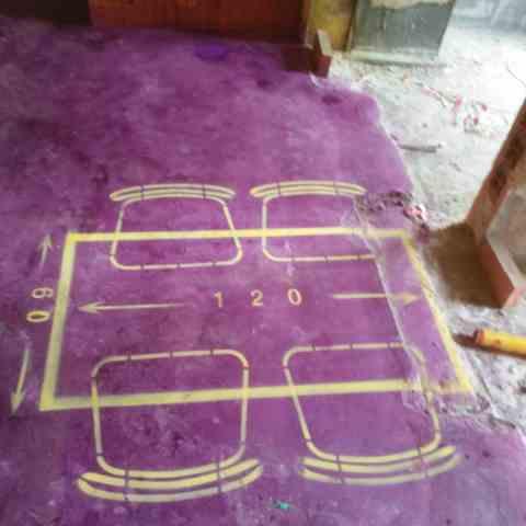 合铁家园-黄墙紫地/全景放样-山水装饰