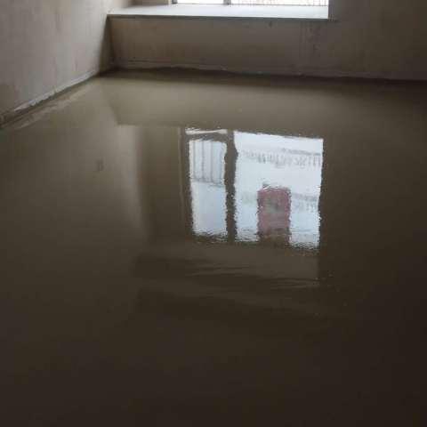 中海滨湖公馆-厚层自流平-山水装饰