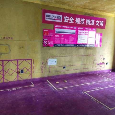 春辉里-黄墙紫地/全景放样-山水装饰