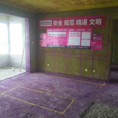 望江台北区-黄墙紫地/3D全景放样-山水装饰