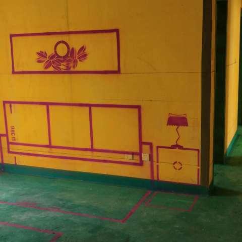 公元天下-黄墙绿地/3D全景放样-美户美家装饰