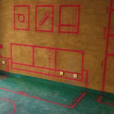 滨湖阳光里-黄墙绿地/3D全景放样-家美福装饰