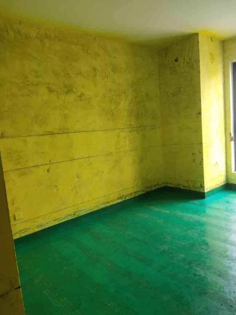 绿城玉兰公寓-黄墙绿地/标准弹线-优家施工