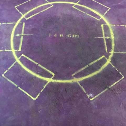 滨湖公园里-黄墙紫地/3D全景放样-山水装饰