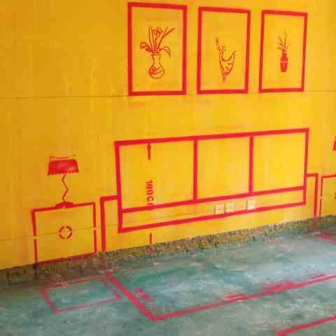 西子曼城北区-黄墙绿地/3D全景放样-卡牌装饰