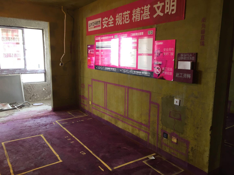 万达亲湖苑-黄墙紫地/3D全景放样-山水装饰