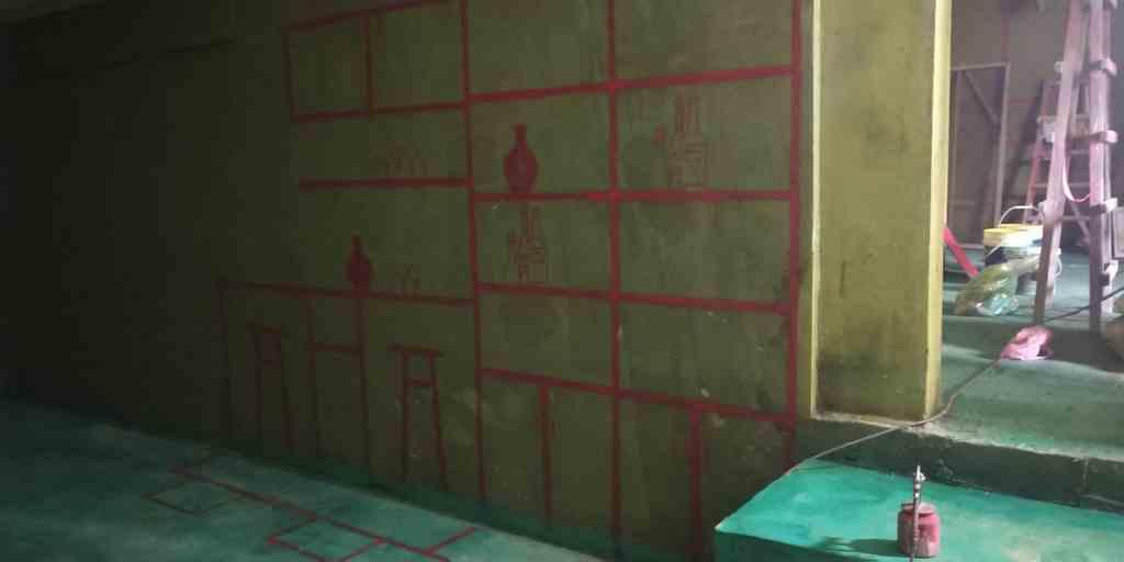 中海央墅-黄墙绿地/3D全景放样-华然装饰A+