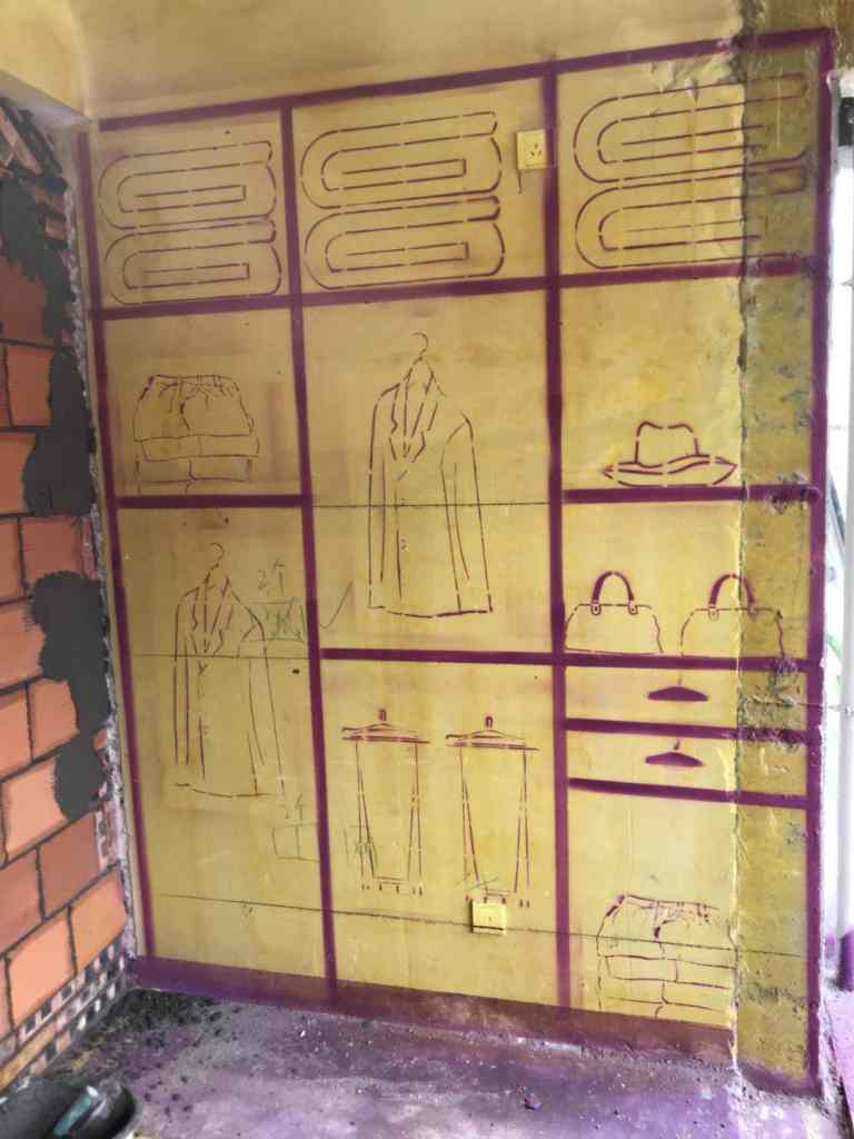 西子曼城-黄墙紫地加放样-山水装饰
