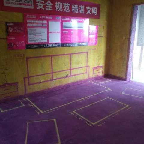 领势公馆-黄墙紫地/3D全景放样-山水装饰