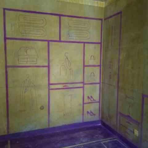 海尔智慧公馆-黄墙紫地/3D全景放样-山水装饰