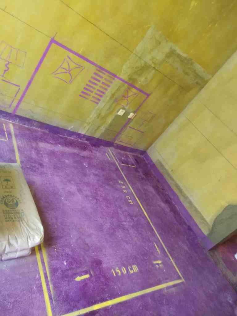 高速时代公馆-黄墙紫地/3D全景放样-山水装饰