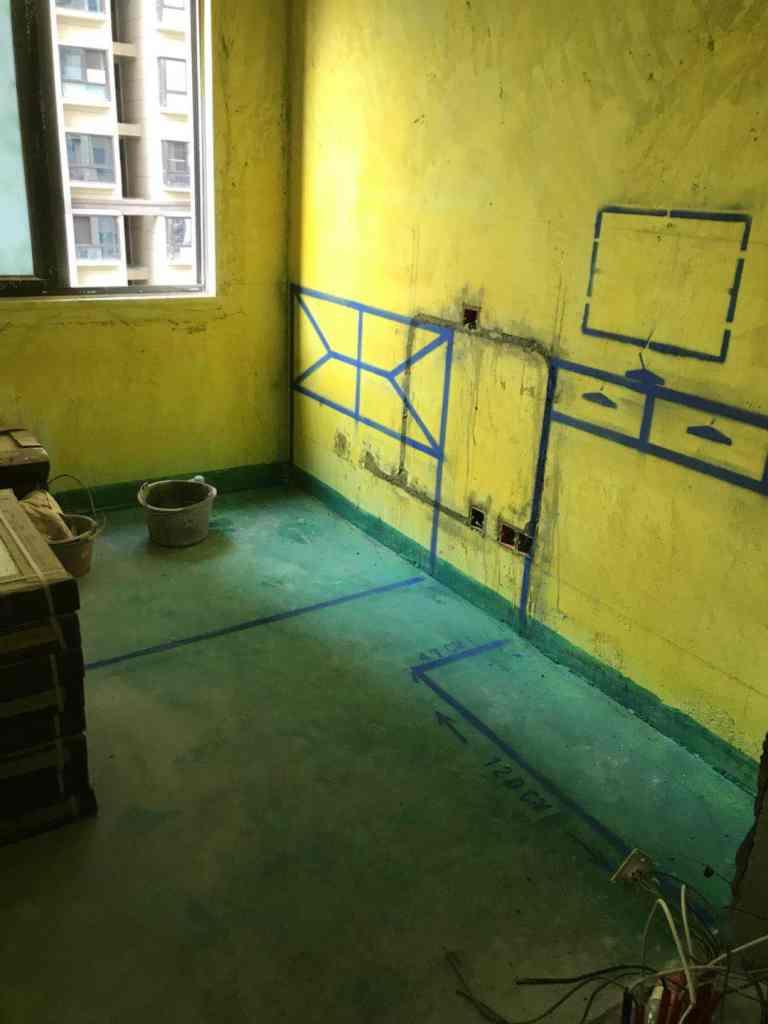 王大郢家园-黄墙绿地/3D全景放样-百度装饰