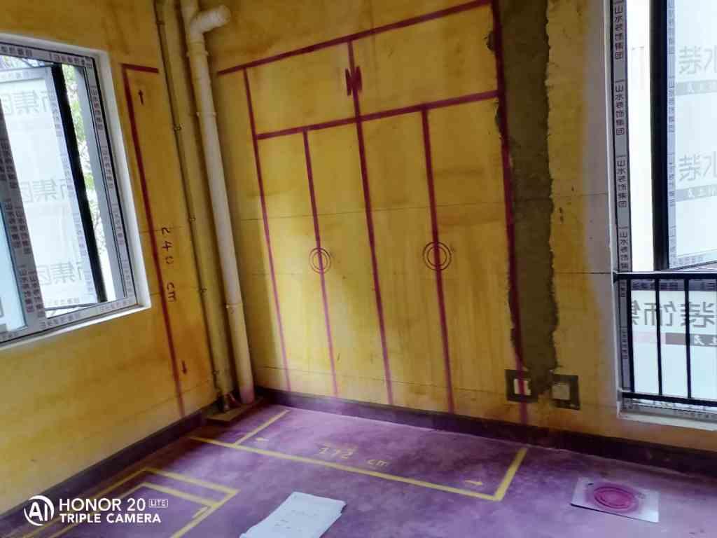 庐州府澜园-黄墙紫地3D全景放样-山水装饰