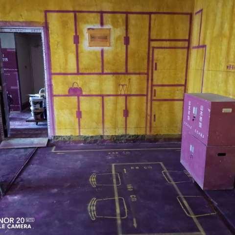 合作经济广场-黄墙紫地/3D全景放样-山水装饰