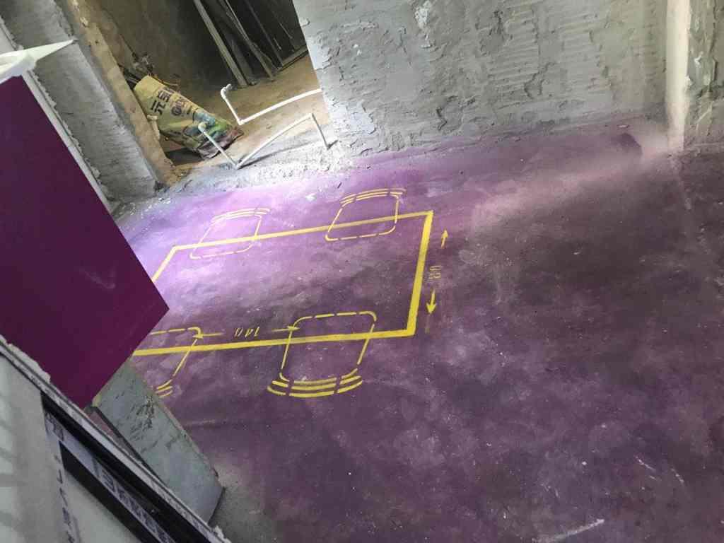 华邦世贸城-黄墙紫地/3D全景放样-山水装饰