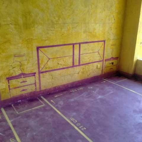 万达中心-黄墙紫地/3D全景放样-山水装饰