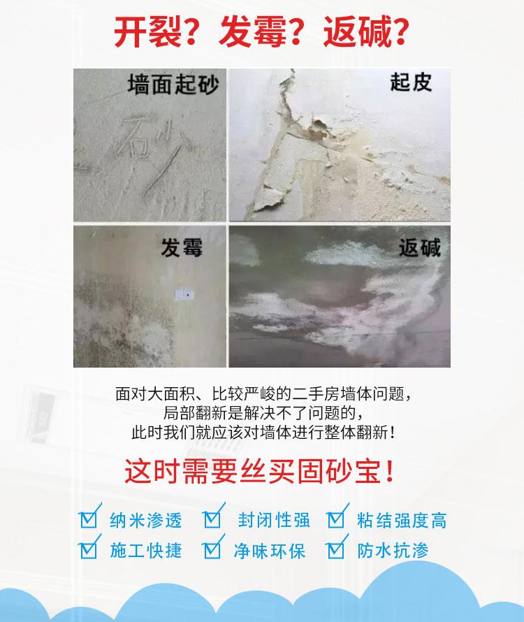 固沙宝厂家 返沙克星 根治墙面地面起沙脱粉空鼓脱落发霉 水泥地面起砂固沙剂
