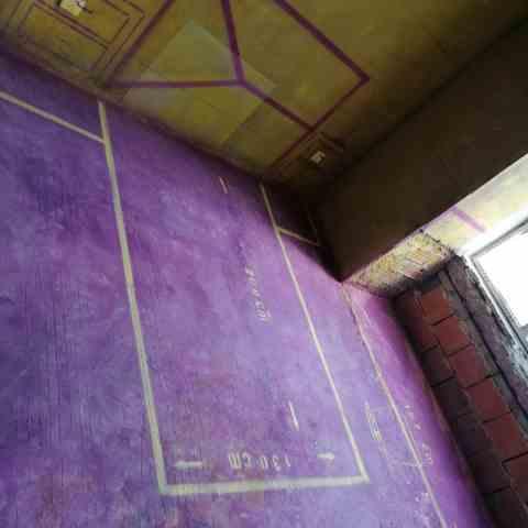 平湖秋月-黄墙紫地/3D全景放样-山水装饰