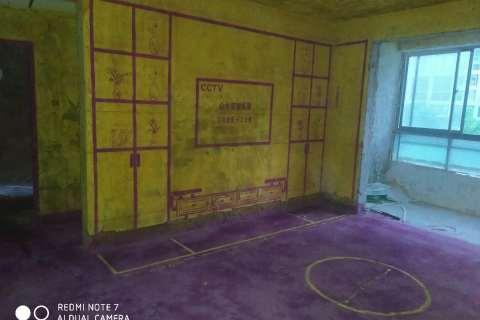 天鹅湾-黄墙紫地/3D全景放样-山水装饰