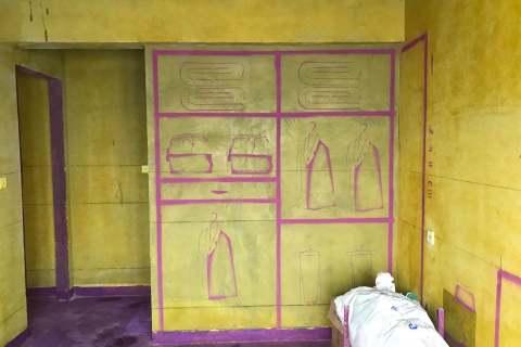 泊心湾-黄墙紫地/3D全景放样-山水装饰