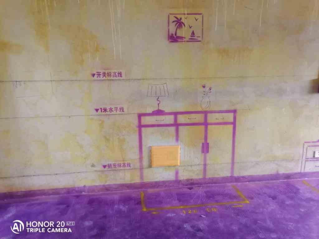云谷名庭-黄墙紫地/3D全景放样-山水装饰