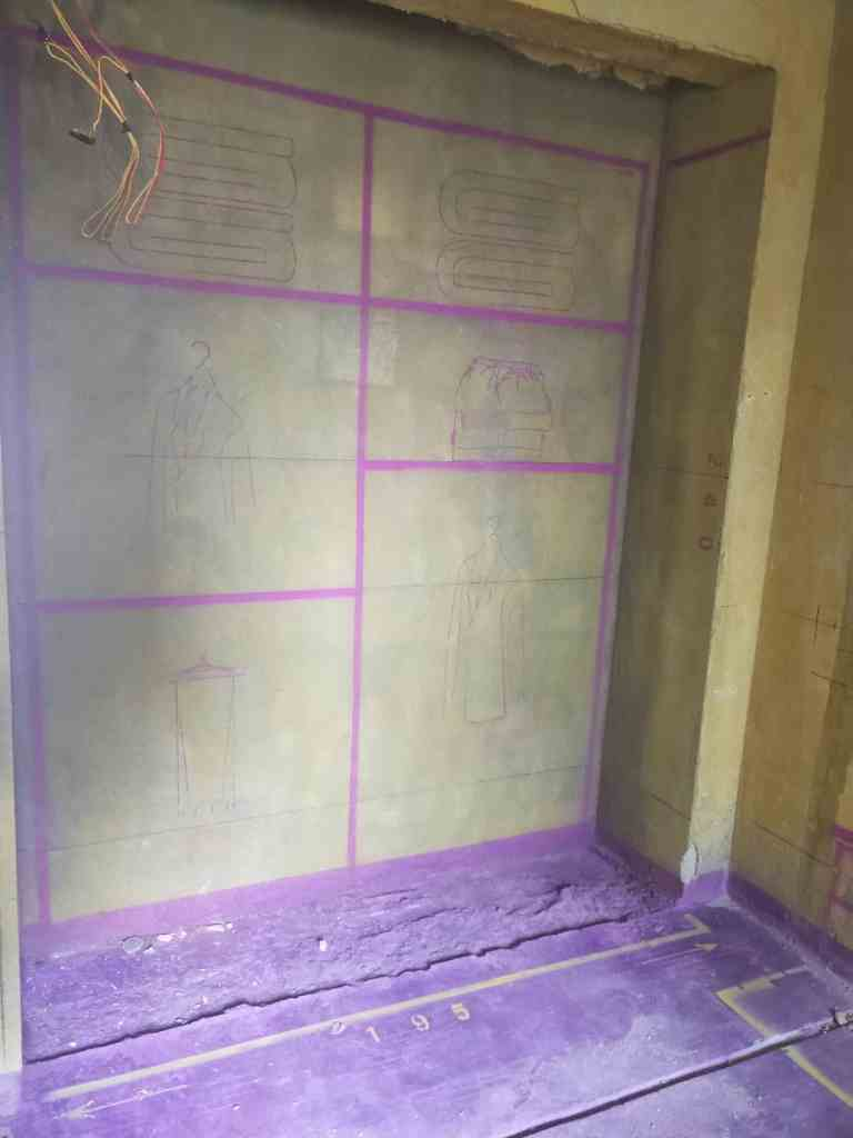 锦门学院里-黄墙紫地/3D全景放样-山水装饰
