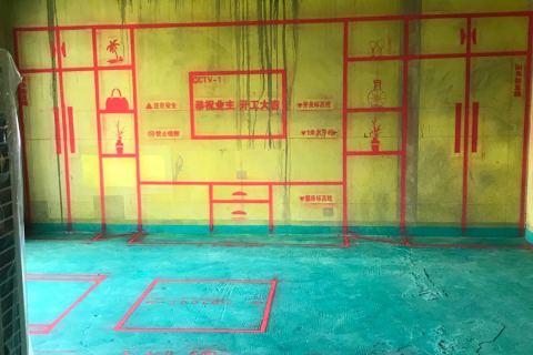 万科时代之光-黄墙绿地/3D全景放样-美户美家装饰