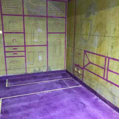 高铁都市花园-黄墙紫地/3D全景放样-山水装饰