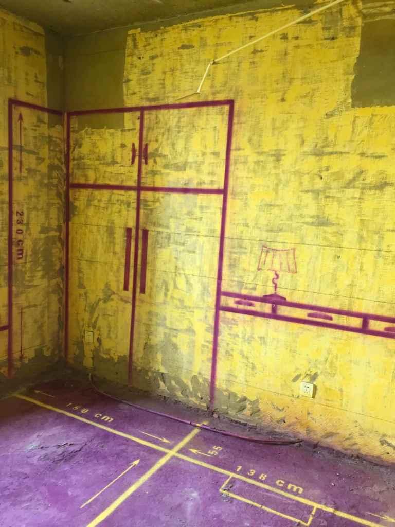 景城花园-黄墙紫地/3D全景放样-山水装饰