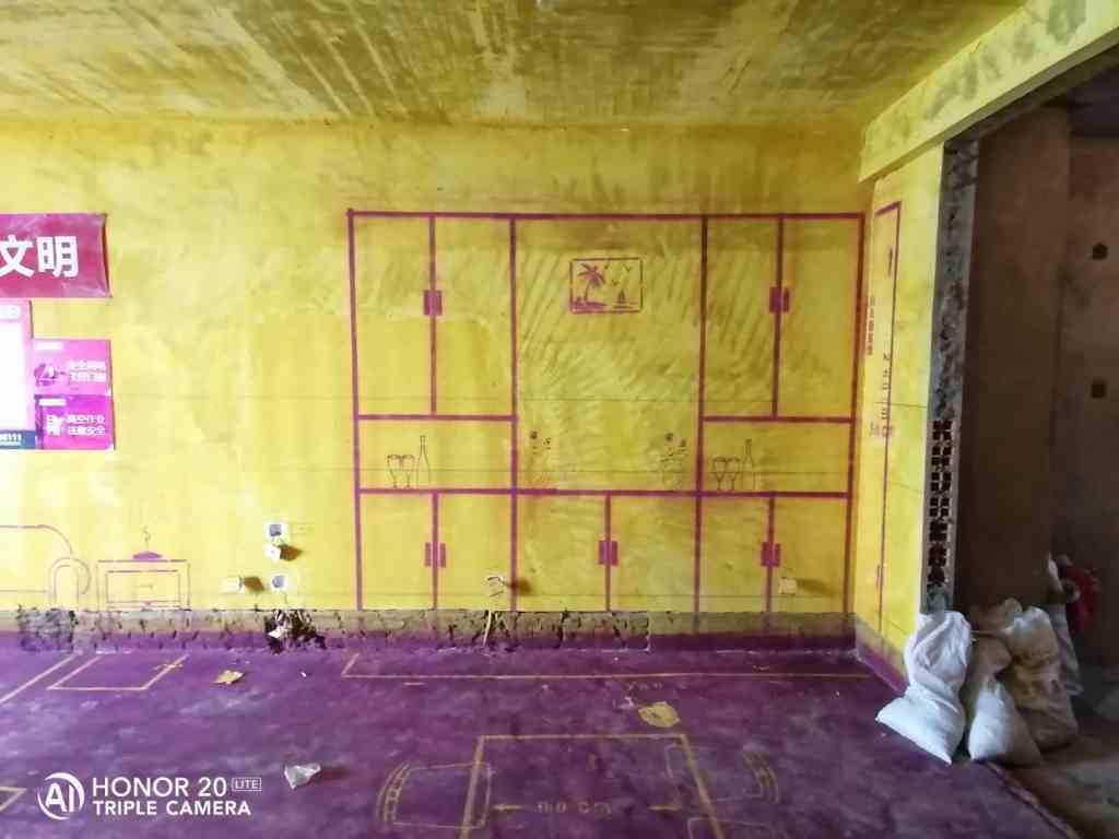 置地柏悦公馆-黄墙紫地/3D全景放样-山水装饰