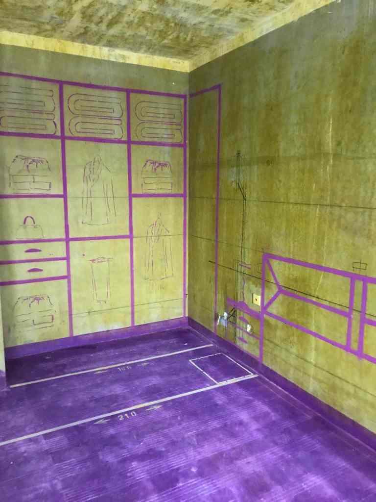 金港湾-黄墙紫地/3D全景放样-山水装饰