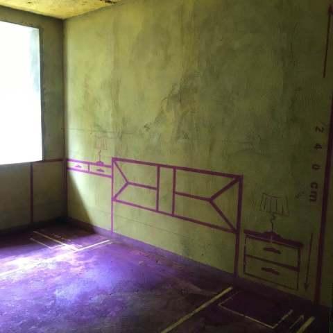 西园新村-黄墙紫地/3D全景放样-山水装饰