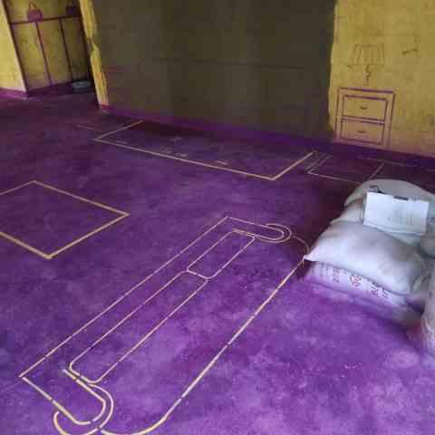 绿城百合公寓-黄墙紫地/3D全景放样-山水装饰