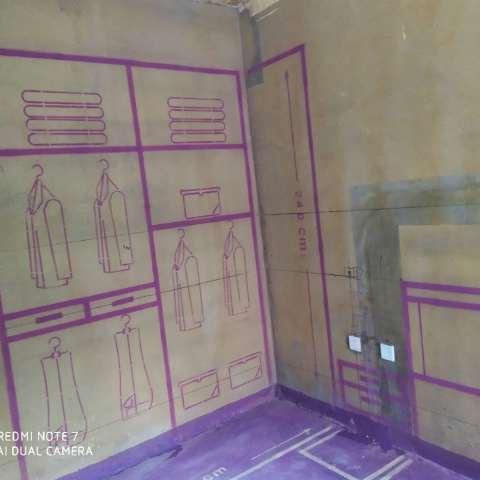 高速时代公馆-黄墙紫地/3D放样-山水装饰