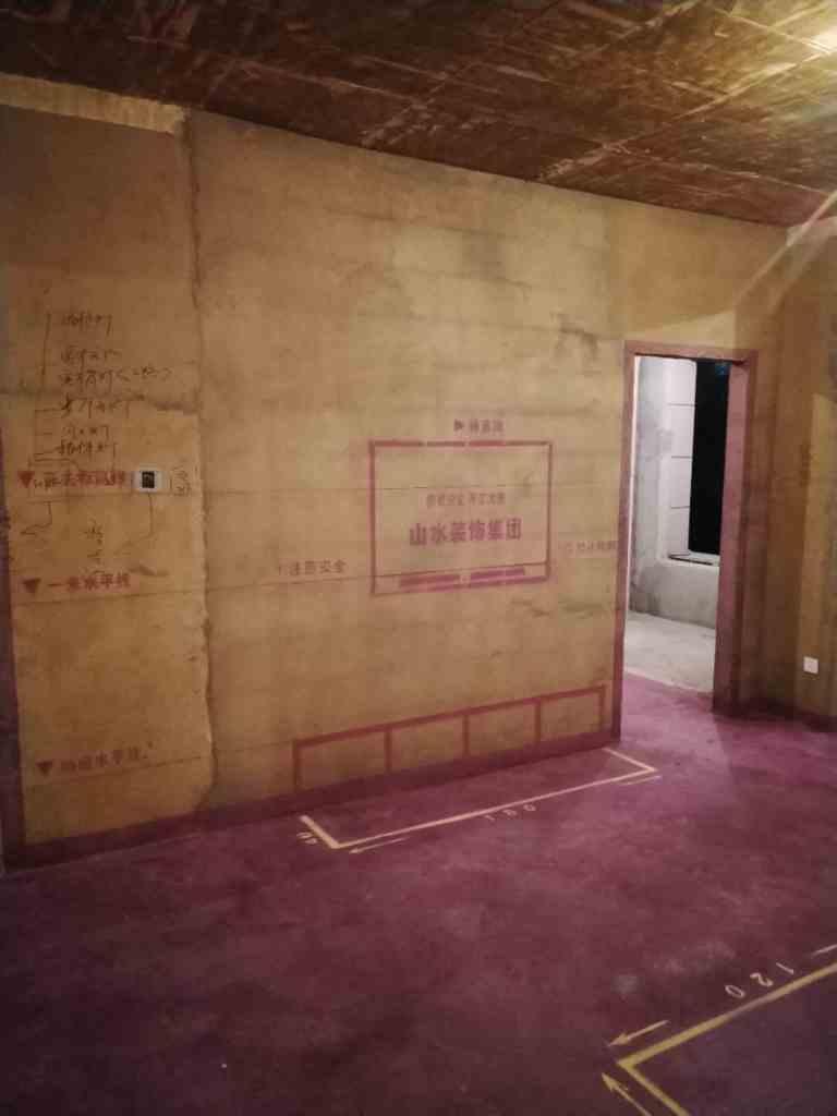 庐州公馆-黄墙紫地/3D全景放样-山水装饰