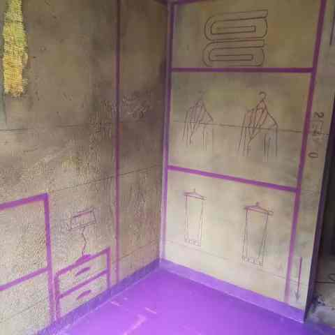 安南小区-黄墙紫地/3D全景放样-山水装饰