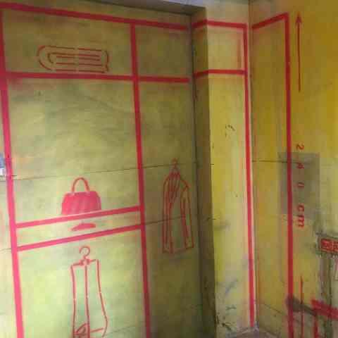 巴黎都市-黄墙绿地/3D全景放样/成品保护-金艺堂装饰